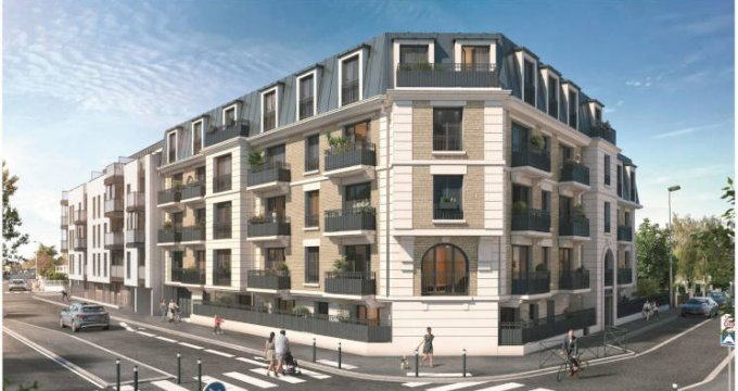 Achat / Vente programme immobilier neuf Aulnay-sous-Bois à 550 m de la gare RER B (93600) - Réf. 5848