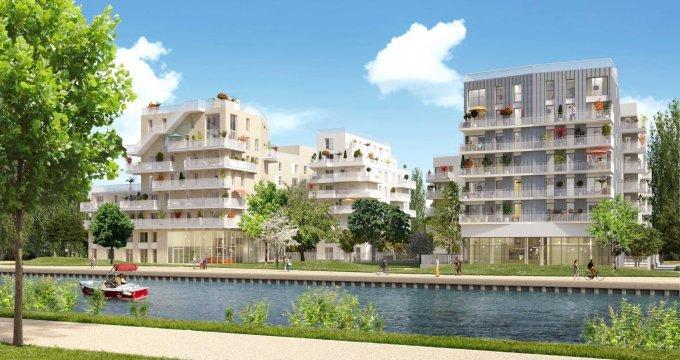 Achat / Vente programme immobilier neuf Bondy sur les rives du canal de l'Ourcq (93140) - Réf. 4041